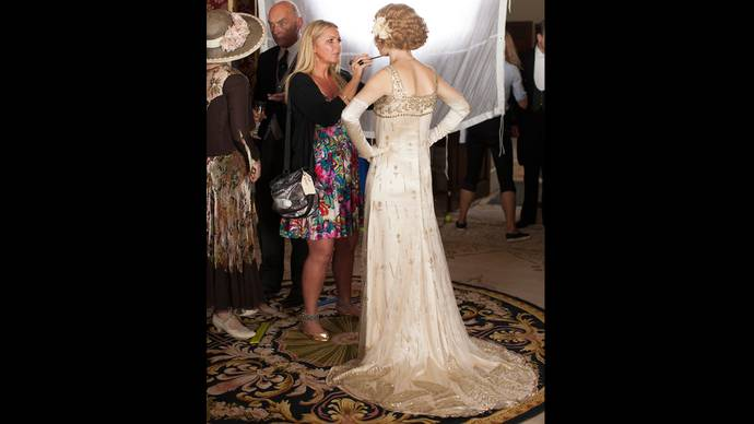 downton abbey season 5 behind the scenes of rose 39 s fairy