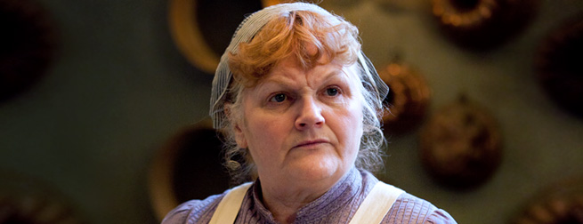Mrs. Patmore, close up