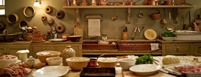 Downton Abbey's kitchen