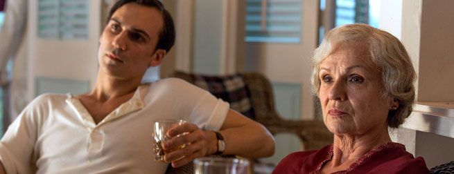 Henry Lloyd-Hughes and Julie Walters