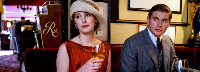Laura Carmichael and Allen Leech