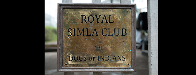 The Royal Simla Club sign