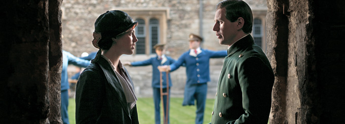 Allen Leech and Jessica Brown Findlay