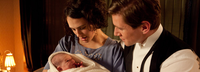 Jessica Brown Findlay and Allen Leech