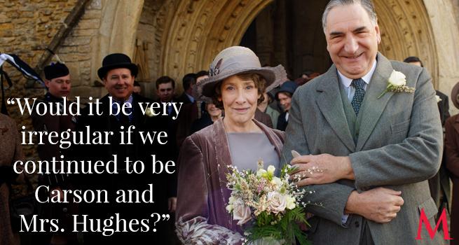 Phyllis Logan and Jim Carter