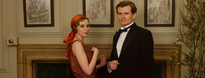 Laura Carmichael and Charles Edwards