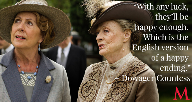 Penelope Wilton and Maggie Smith