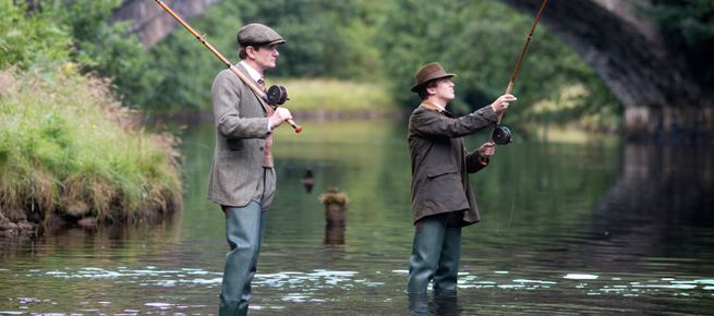 Matthew and Michael Gregson fishing