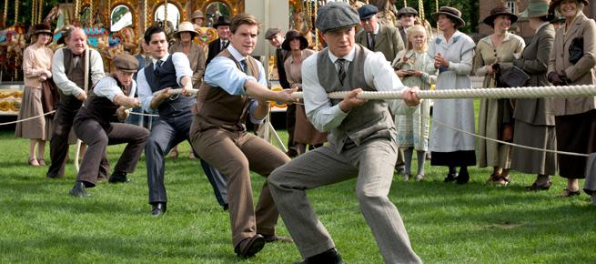 Downton Abbey fair tug of war